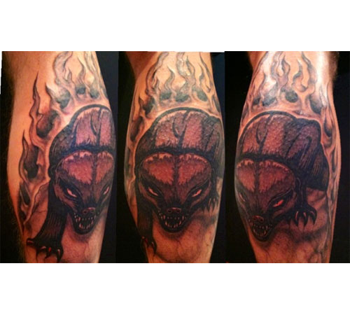 Honey Badger Tattoo based on design by Meerkatsu