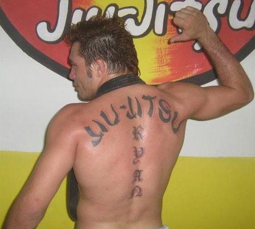 Ronny Jason  Jiu JItsu Script Tattoo