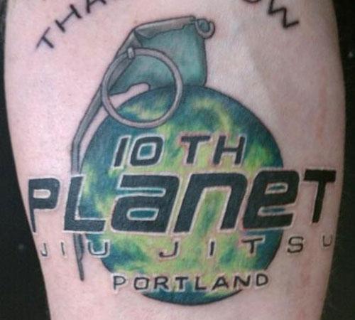 10th Planet Jiu Jitsu Tattoo