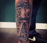 Skeleton BJJ Tattoo