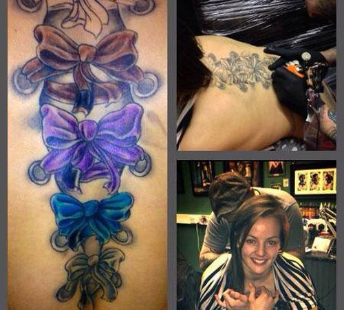 Vanessa English\'s back piece by Jonn Actual of Lifetime Tattoo Studio