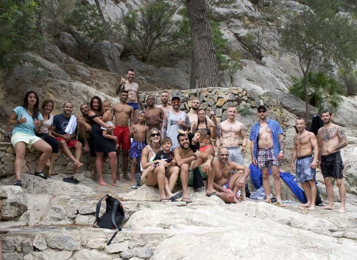 BJJ'ers invade the Algar Waterfalls