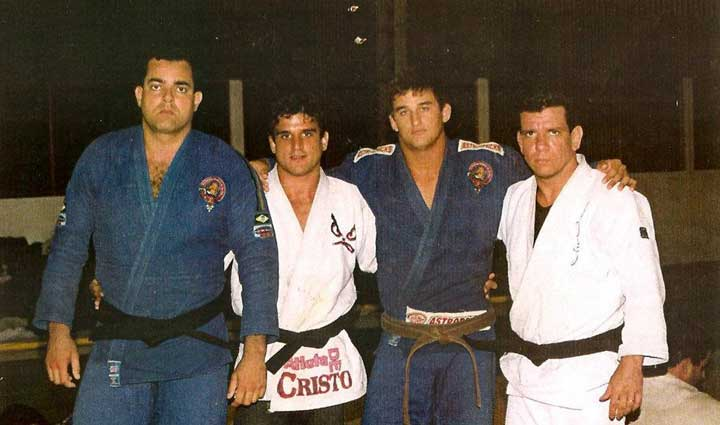 Jean Kleber with Masters Jair Lourenco and Andre Pederneiras in Brazil.