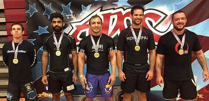 ADCC US trials champions: Justin Rader, Mansher Khera, James Brasco, Elliott Kelly, Tom deBlass