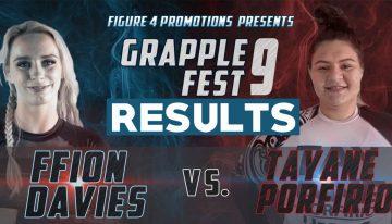 GrappleFest 9 Results, Ffion Davis and Tayane Porfirio Went To War In Match Of The Year!